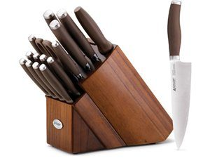 Anolon 17-pc. Advanced Cutlery Knife Block Set, Bronze